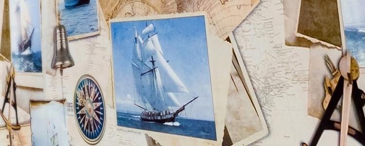 Stort udvalg af voksduge med maritime motiver