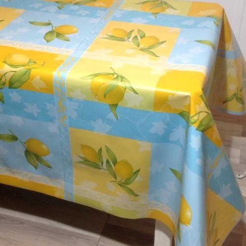 Citroner. Ekstra bred voksdug i super kvalit, 180cm bred