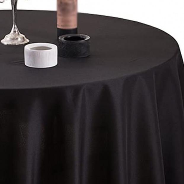 Gastro sort Ø 160 cm, rund damask dug
