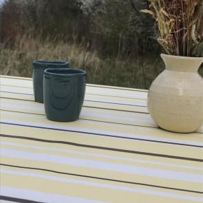 Heno Stripe - Striber, Gul - akryldug med antiskrid