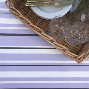 Heno Stripe - Striber, Lilla - akryldug med antiskrid