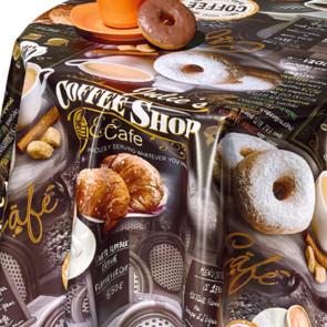 70A Voksdug Coffee Shop, voksdug med kaffe og kage