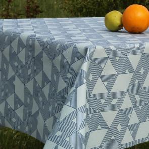 Cuzco Blå, akryldug med flot grafisk mønster