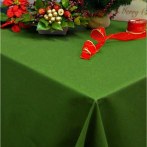 Dali akryldug, ensfarvet juledug grøn, 180 cm bred