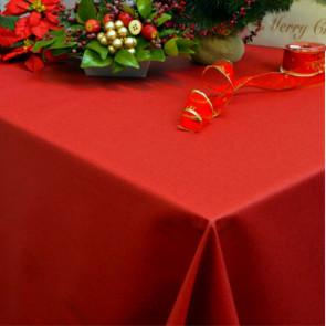 Dali akryldug, ensfarvet juledug rød, 140 cm bred