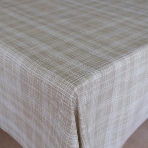 Flow Sand - Flot akryldug med enkelt streg mønster, 140 cm