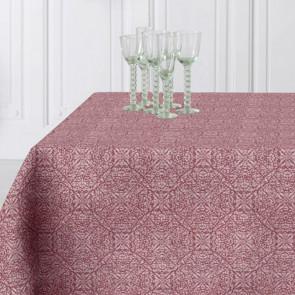 Skal dit bord peppes op med en ny skøn dug – så kig med her. Skøn og flot akryldug. Tænk på et dejligt glas rødvin, så har du netop farven på denne fine dug. En akryldug med jacquard-vævning er en ganske særlig dug, hvor der er brugt en særlig teknik, som