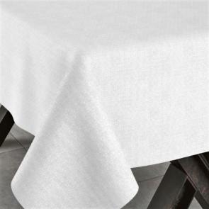 Corbaz hvid, jacquard vævet akryldug, 140 cm bred