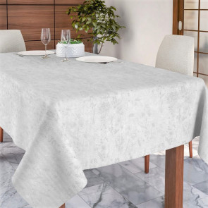 Lorrain hvid, jacquard vævet akryldug, 140 cm bred