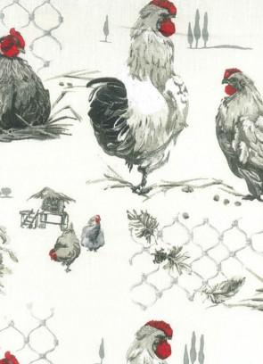 Akryldug med høns