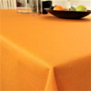 Ensfarvet akryldug appelsin - Dali 160 cm bred