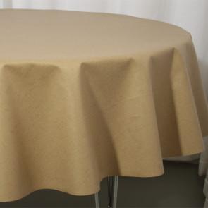Lino beige - Rund  akryldug Ø 138 cm ar16-4