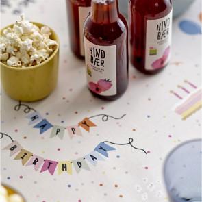Södahl fødselsdagsdug, B-day Multi, akryldug med antiskrid