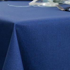 Ensfarvet akryldug blå - Dali 180 cm bred