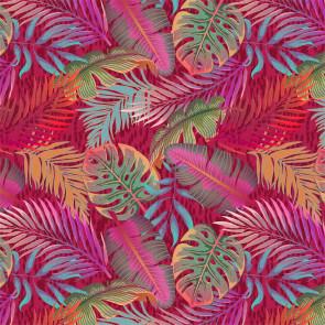 Bladsymfoni Pink Pift - Voksdug i pink, orange, blå- og grønlige nuancer