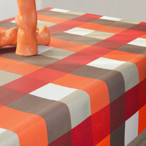 CASIA ternet akryldug med teflon, orange, 140 cm bred
