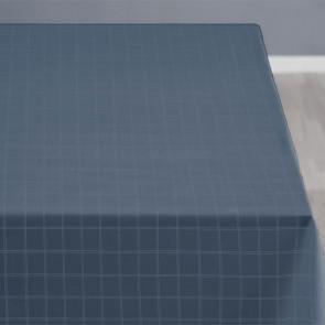 Södahl Clear China blue, klassisk damaskvævet akryldug med antiskrid