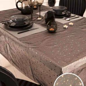 Festlig polyesterdug i sort organza stof