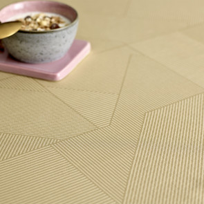 Södahl Complex Golden Sand, damaskvævet akryldug med antiskrid