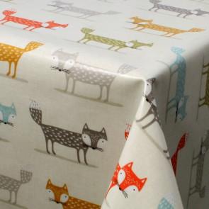 Den Lille Pelsræv - tekstilvoksdug, 134 cm bred