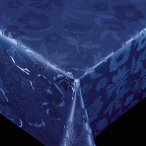 Diamond Dark Blue - pvc fri voksdug med præget mønster