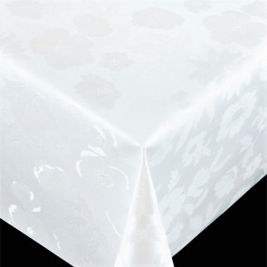 Diamond Flower White - Flot voksdug til festen, med flot præget mønster