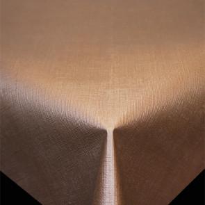 Diamond Hør-Struktur Skovbrun- ensfarvet pvc fri voksdug