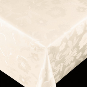 Diamond Offwhite - pvc fri voksdug med præget mønster