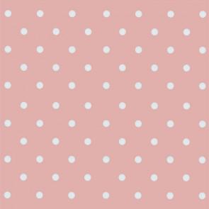 Dots Vintage pink, voksdug med prikker