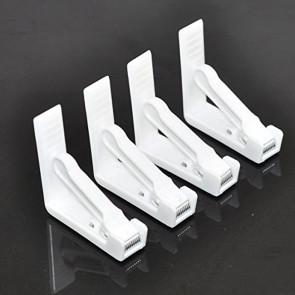 Dugklemmer i hvid plast. Sæt med 4 stk.