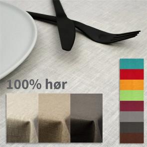 Ensfarvet akryldug i 100% hør - 140 cm bred