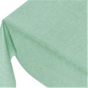 Linen Look Mint Green - ensfarvet voksdug i hørlook med præget overflade