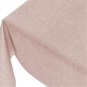Linen Look Soft Pink - ensfarvet voksdug i hørlook med præget overflade