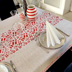 Festdugen med danske flag - Flot akryldug til festlige lejligheder