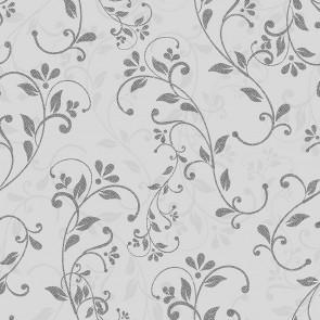 Finurlige Blomsterranker - Voksdug grålige nuancer