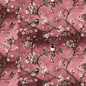 Fugl på Gren Pink Paradise, voksdug