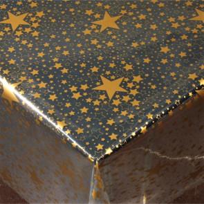 Gennemsigtig julevoksdug - Stjernehimmel Guld