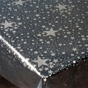 Gennemsigtig julevoksdug - Stjernehimmel Sølv