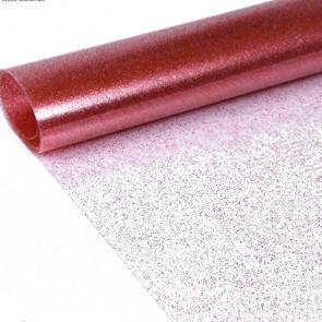 Klar plast med rød glitter Gennemsigtig voksdug
