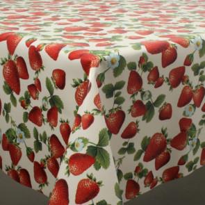Jordbærsæson, voksdug med jordbær