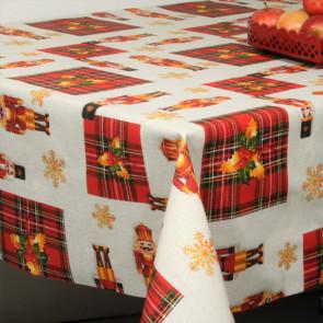 Juledug - Akryldug med Skotske Juletern