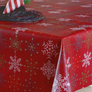 Juledug Flake Rouge, akryldug i rød