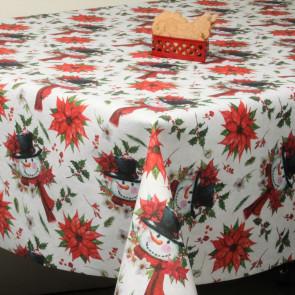 Juledug - Akryldug med Snemanden og Julestjerner