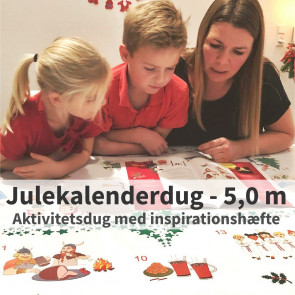 Julekalenderdug - voksdug med inspirationshæfte - 5,0 meter