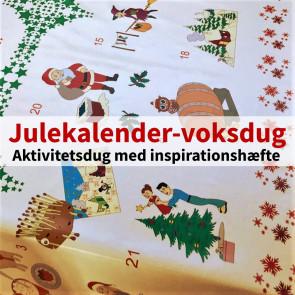 Julekalender-voksdug - Juleaktivitetsdug med inspirationshæfte, 2,5 meter