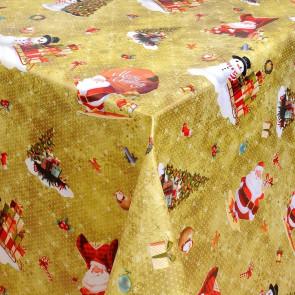 Julevoksdug Merry Christmas - Gylden jul, 140 cm bred