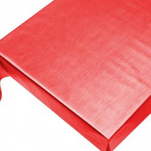 Julevoksdug - Ensfarvet voksdug metallic rød