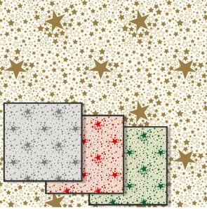 Stjernehimmel - Julevoksdug med stjerner, 140 cm