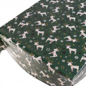 Julevoksdug Xmas Deer Green - Julerensdyr i Flok Grøn