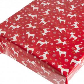 Julevoksdug Xmas Deer Red - Julerensdyr i Flok Rød